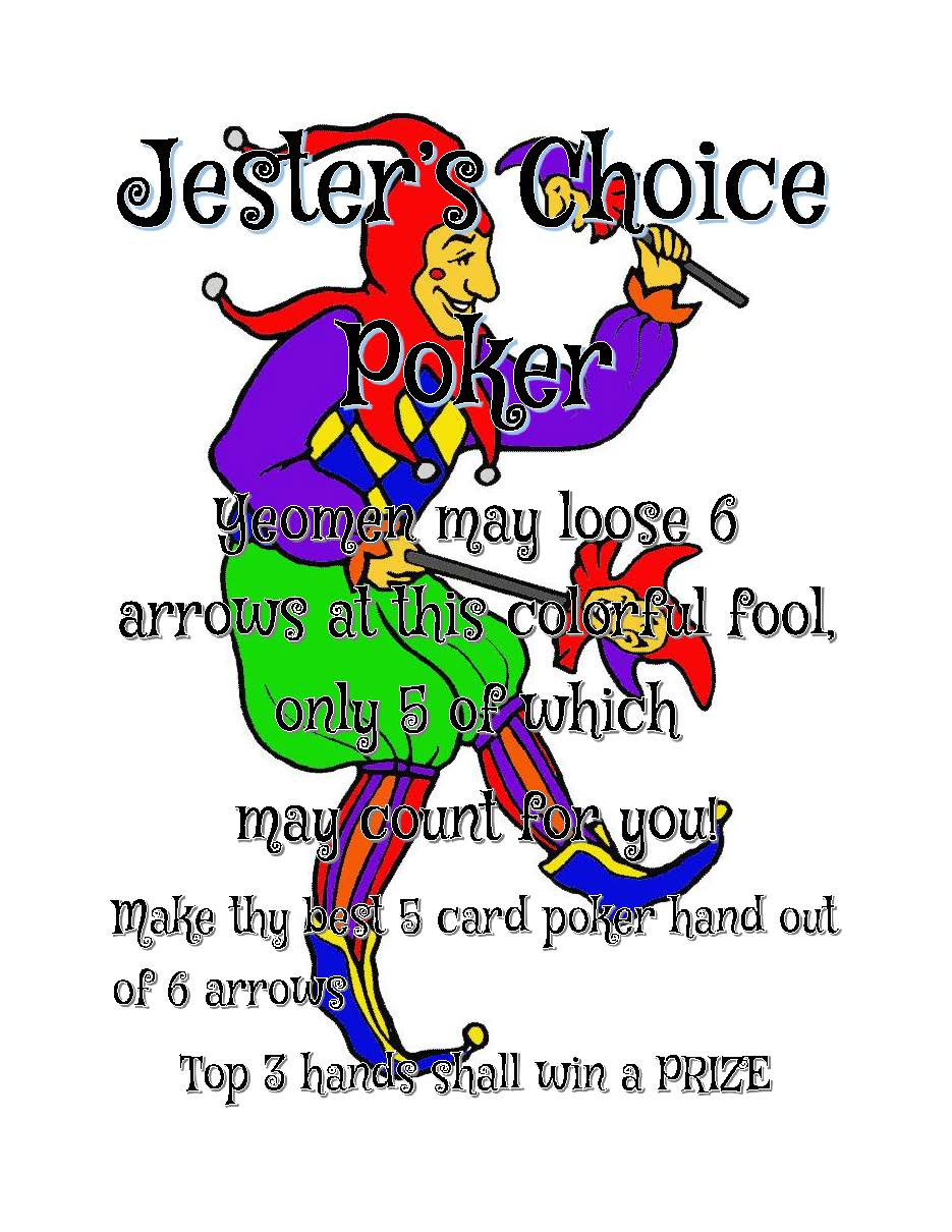 Jester's Choice Archery Shoot - PDF is available